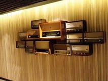 Old radio. Wood electronic sound music royalty free stock photography