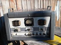 Old radio. World as it is close to you Royalty Free Stock Photos