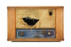 Old radio from 1950 Stock Image