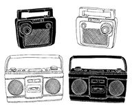 Old Radios Royalty Free Stock Photography