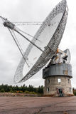 Old radiotelescope. The 50 meter diameter radiotelescope in Algonquin Park, Ontario, Canada Royalty Free Stock Images