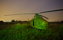 Old Raf helicopter Stock Photography