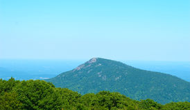 Old Rag Mountain off Skyline Drive. Scenic view of Old Rag as seen off of Skyline Drive in Virginia Stock Images