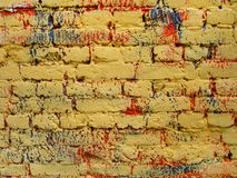 Old, ragged brick wall texture Royalty Free Stock Photos