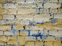 Old, ragged brick wall texture Stock Images