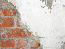 Old, ragged brick wall texture Royalty Free Stock Photo