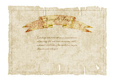 Old ragged canvas with banner.vector illustration Stock Photo