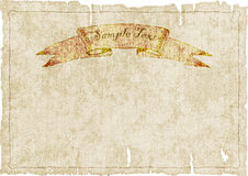 Old ragged dirty canvas with banner.vector illustration Stock Photo