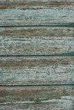 Old ragged green painted wooden background Royalty Free Stock Photos