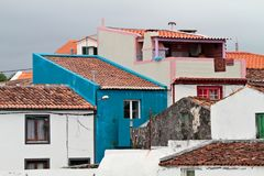 Buildings in Ponta Delgada Azores, Portugal Royalty Free Stock Images
