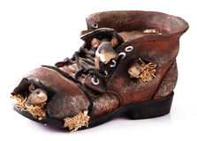 Old ragged shoe Stock Photography