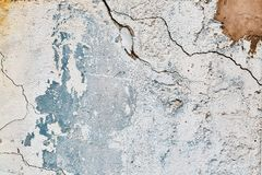 Old ragged wall.Background. Old blue ragged wall. Background. Texture. Vintage Royalty Free Stock Photography