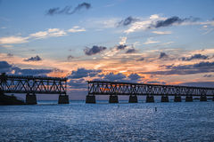 Old rail bridge at Florida Keys Royalty Free Stock Photos