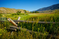 Old Rail Fence in West Royalty Free Stock Photography