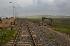 Old rail line in Ghana, West Africa Royalty Free Stock Photography