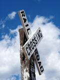 Old Rail Road Crossing Sign Post Royalty Free Stock Photo
