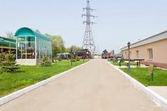 Old rail road locomotive Stock Photo