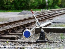 Old rail road perspective view. Royalty Free Stock Photography