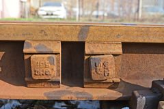 Old rail track Stock Images