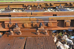 Old rail track Stock Photo