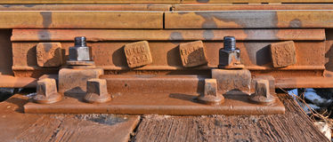 Old rail track Stock Photos
