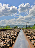 Old rail tracks Royalty Free Stock Images