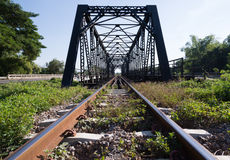 Old rail way bridge Royalty Free Stock Photos