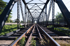 Old rail way bridge Royalty Free Stock Photography
