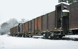 Old railcars in Germany Royalty Free Stock Photo