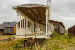Old railcars in maintenance yard Royalty Free Stock Images