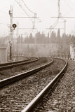 Old railroad. A convenient way of transport Stock Photo