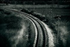 Old railroad , artistic retro style toned photo Stock Photography
