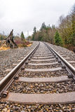 Old railroad in autumn season. Royalty Free Stock Photos
