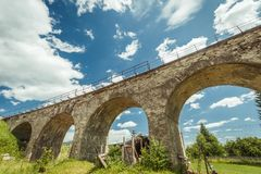 Old railroad bridge Royalty Free Stock Image