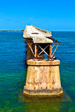Old Railroad Bridge on the Bahia Honda Key in the Florida keys Stock Image
