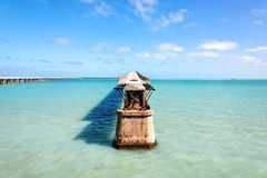 Old Railroad Bridge, Florida Keys Royalty Free Stock Image