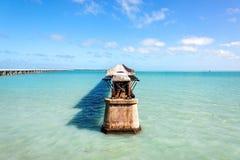 Old Railroad Bridge, Florida Keys Royalty Free Stock Image