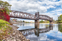 Free Old Railroad Bridge In Magdeburg Royalty Free Stock Photo - 61847605