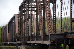 Old railroad bridge Stock Photo