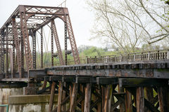 Old railroad bridge Royalty Free Stock Photos