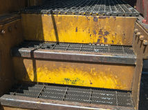 Old railroad car steps Stock Photos
