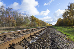 Old railroad, close up Royalty Free Stock Photos