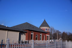 Old railroad depot in Grinnell, Iowa Royalty Free Stock Photo