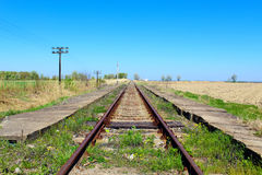 Old railroad in eastern Europe Stock Photography