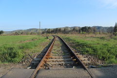 Old railroad in eastern Europe Royalty Free Stock Image
