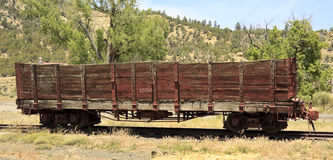 Old railroad hopper car Stock Photo
