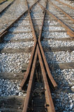Old railroad junction Stock Image