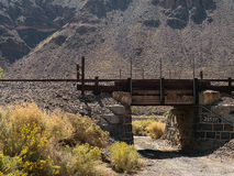 Old railroad overpass Stock Photo