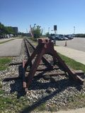 Old railroad in Portland, Maine stock photos