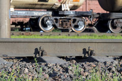 Old railroad rails Royalty Free Stock Photo